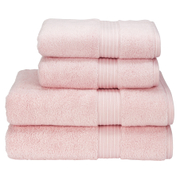 Christy Supreme Hygro 4 Piece Hand & Bath Towel Bundle - Pink