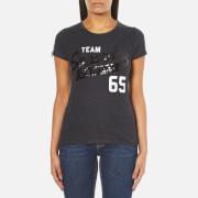 Superdry Women's Sequin Team Comets T-Shirt - Black Marl
