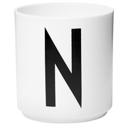 Design Letters Porcelain Cup - N