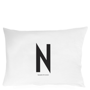Design Letters Pillowcase - 70x50 cm - N