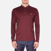 Polo Ralph Lauren Men's Long Sleeve Custom Fit Polo Shirt - Classic Wine