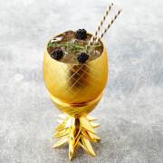 Pineapple Storage Pot/Tumbler - Matt Brass