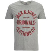 Jack & Jones Men's Originals Clumens T-Shirt - Light Grey Melange
