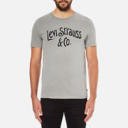 Levi's Men's Graphic Set-In Neck 2 T-Shirt - Neutral Gray