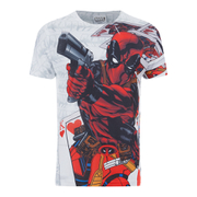 Marvel Mens Deadpool Cards T-Shirt - Wit