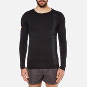 Superdry Men's Gym Sport Runner Long Sleeve Top - Black
