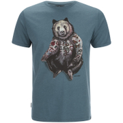 Animal Men's Hipster T-Shirt - Hydro Blue Marl