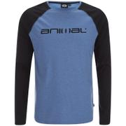 Animal Men's Action Raglan Long Sleeve Top - Royale Blue Marl