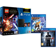 Sony PlayStation 4 500GB - Includes LEGO Star Wars: The Force Awakens, Star Wars: The Force Awakens, Ratchet & Clank + Uncharted 4