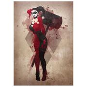 Harley Quinn Inspired Art Print - 16.5 x 11.7