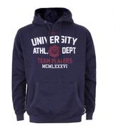 Varsity Team Players Men's University Athletic Hoody - Navy
