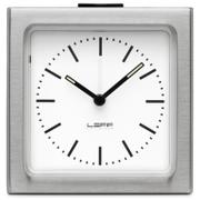 LEFF Amsterdam Block Alarm Clock - Silver Station