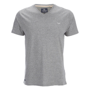 Threadbare Men's Charlie Plain V-Neck T-Shirt - Grey Marl