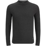 Threadbare Men's Attic Textured Raglan Jumper - Charcoal Marl