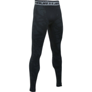 Under Armour Men's ColdGear Jacquard Leggings - Black/Steel