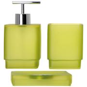 Sorema Frost Bathroom Accessories - Pistachio (Set of 3)