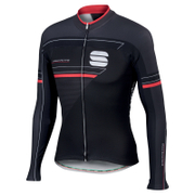 Sportful Gruppetto Thermal Long Sleeve Jersey - Black