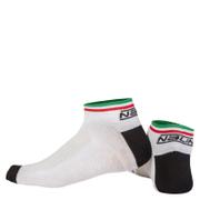 Nalini Strada Socks 9cm - White