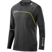 Skins Plus Men's Terra Long Sleeve Top - Black/Aluminium