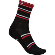 Castelli Gregge 12 Cycling Socks - Black/Red