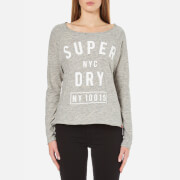Superdry Women's Vintage Slub Raglan Top - Skyscraper Grey Marl