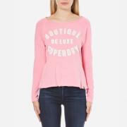 Superdry Women's Vintage Slub Raglan Top - Vintage Pink