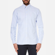 Hackett London Men's Slim Washed Oxford Long Sleeve Shirt - Sky
