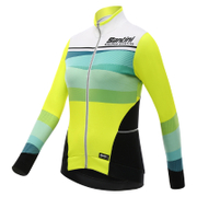 Santini Women's Coral Thermal Long Sleeve Jersey - Yellow
