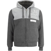 Smith & Jones Men's Enfilde Zip Through Hoody Jacket - Mid Grey Marl
