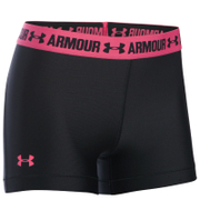 Under Armour Women's HeatGear Armour 3 Inch Shorts - Black/Pink