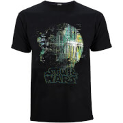 Star Wars: Rogue One Mens Rainbow Effect Death Star T-Shirt - Zwart