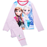 Disney Girl's Frozen Graphic Print Pyjamas - Lilac