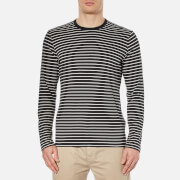 Folk Men's Long Sleeve Stripe T-Shirt - Grey