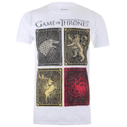 Game of Thrones Men's House Squares T-Shirt - White