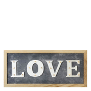 Parlane 'Love' LED Sign - Grey/White (20 x 43cm)