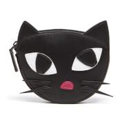Lulu Guinness Women's Kooky Cat Foldaway Shopper Bag - Black White