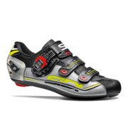 Sidi Genius 7 Cycling Shoes - Black/Silver/Yellow Fluro