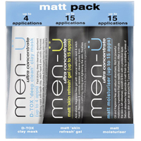 Pack productos matificantes antibrillos men-ü (3 productos)