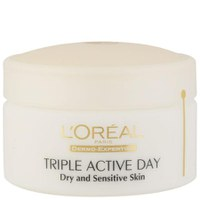 L'Oreal Paris Dermo Expertise Triple Active Hydratante de Jour Multi-Protection - Peau sèche / Sensible (50ml)