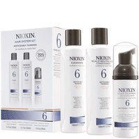 NIOXIN Hair System Kit 6 for Noticeably Thinning, Medium to Coarse, Natural and Chemically Treated Hair (3 produkter)