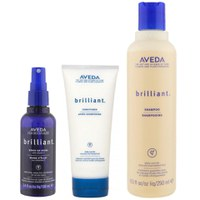 Trío Aveda Brilliant - champú, acondicionador y spray brillo On Shine