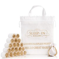 Sleep In Rollers - White and Gold Glitter (x20 in a Bag)