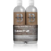 TIGI B For Men Clean Up Tween Duo (2x750ml) (Worth £46.45)