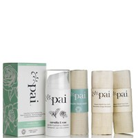 Pai Skincare Camellia and Rose Gentle Hydrating Cleanser and 2 Muslin Cloths