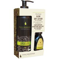 Blow Dry Lotion Duo de Macadamia (30 ml de aceite gratuito)