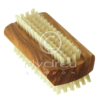 Hydrea London Brush Brosse à ongles en bois d'olivier - Grand