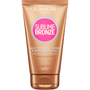 L'Oreal Paris Sublime Bronze Instant Tinted And Shimmering Self Tanning Gel - Fair (150ml)