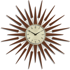 Newgate Pluto Wall Clock - Brown