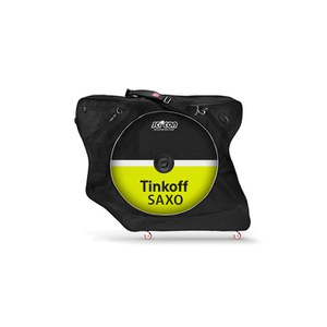 Scicon AeroComfort 2.0 TSA Bike Bag Padlock and External Lateral Shields - Black - Tinkoff Saxo Team Edition