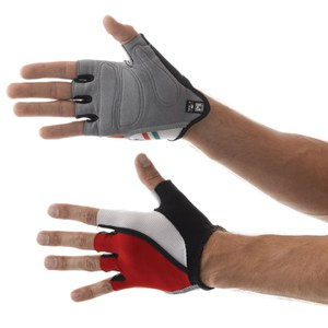 Santini Hook Gel Gloves - Red